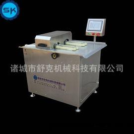 全自动台湾烤肠双条绕线机 鸡肉肠分段PLC操作双路腊肠扎线机舒克