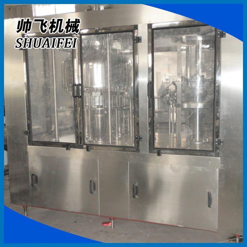 自動純淨水灌裝機 液體廠家供應小型純淨水生產線灌裝旋蓋一體機