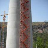 路桥施工脚手架 香蕉式桥梁施工安全爬梯