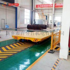 重庆110吨自动保护轨道平车 喷砂船厂平板轨道车