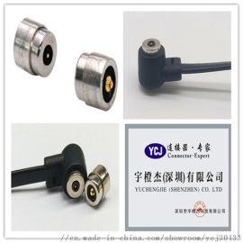 工厂定制磁力USB2pin磁性连接器 弹簧针磁吸头 2pin磁吸连接器智能数码车载汽车数码GPS定位磁吸充电线北斗定位