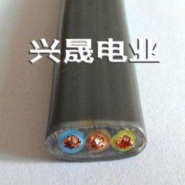 厂家直销3芯扁电缆 电动伸缩门电缆 ,现货供应