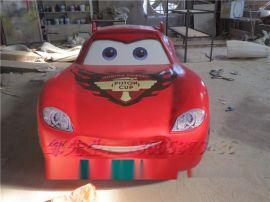 玻璃钢动漫车雕塑 树脂儿童卡通玩具车摆设厂家