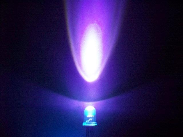 5mm圓頭紫光LED,380nm紫光燈珠