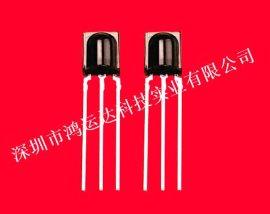 深圳厂家生产红外线遥控接收头鼻梁塑胶封装接收头高性价比HYD838