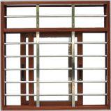 百分百全开窗原装木纹铝材推拉窗