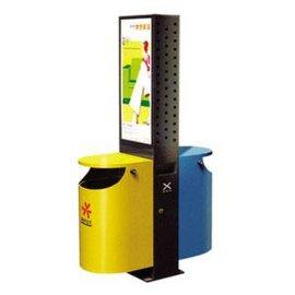 广告式灯箱分类垃圾桶,广告垃圾箱,广告垃圾桶