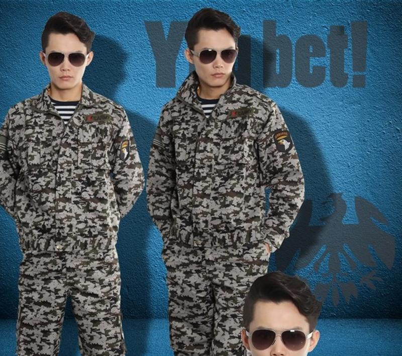 春秋學生軍訓套裝野戰特種兵作訓服軍裝上海三羽鴿迷彩服定做廠家