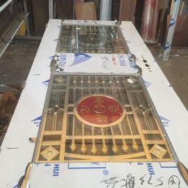 厂家定制不锈钢包边玻璃门 酒店大门 别墅门 豪华不锈钢玻璃门