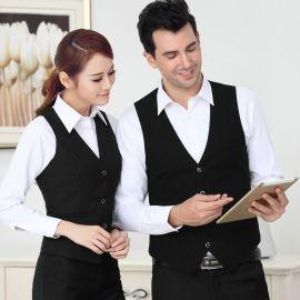 时尚韩版职业装黑色长袖男 女马甲西装ol工作服商务