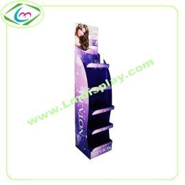 化妆品展示架时尚彩妆陈列架出口高品质纸货架品牌专用落地展示架