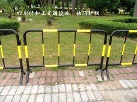 马路施工用的隔离铁马护栏 四川成都市场上铁马护栏价格估算