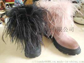 女士真皮靴加工,女靴定做,短靴定做