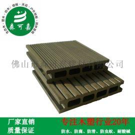 木塑户外地板栈道栈桥地板塑木防水户外地板