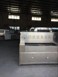不锈钢份数盘自动清洗烘干流水线 不锈钢厨具表面清洗机厂家终身维护