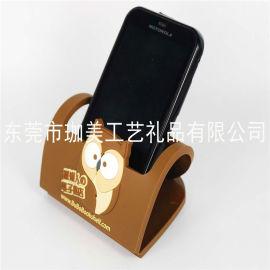 供应PVC软胶手机座  卡通手机座  硅胶手机座