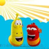 批發毛絨玩具公仔larva正版爆笑蟲子黃色24寸招代理加盟 廠家直銷