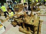 山东幼儿园户外玩教具厂家 炭烧积木厂家山东艺贝幼儿园玩具生产厂家