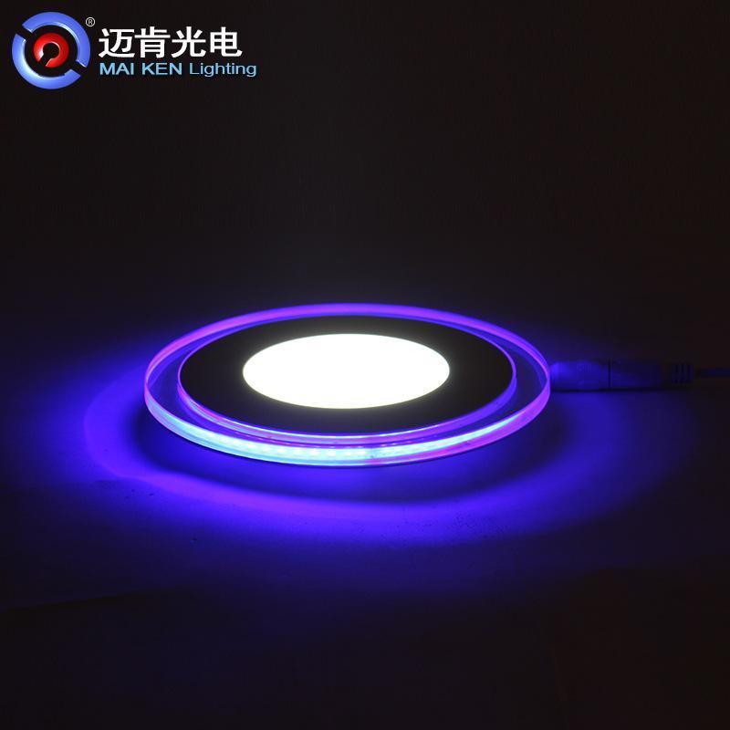 LED雙色面板燈高品質亮度室內照明燈具16W圓形雙色LED面板燈OR16F