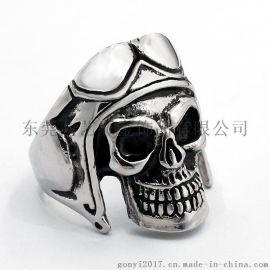共艺饰品 欧美霸气骷髅头戒指 个性时尚摇滚时尚达人饰品单身潮流