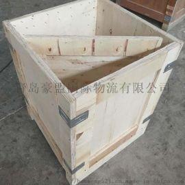 青岛黄岛木箱木托盘厂家定做上门加固木箱