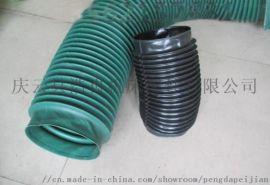 油缸法兰盘耐高温丝杠活塞杆橡胶布三防布圆形伸缩护罩
