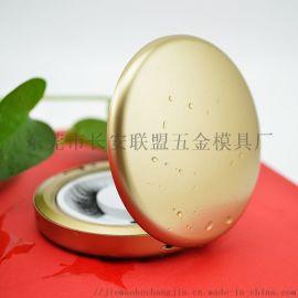 喷漆金色带镜圆形假睫毛盒