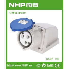 NHP 防水工业明装电源插座 防水壁挂式插座 32A/3P-5P