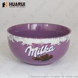 炻瓷色釉陶瓷碗礼品促销碗可定制个性logo广告碗