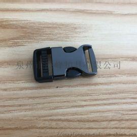 厂家箱包五金配件定制 黑色金属插扣 织带插扣