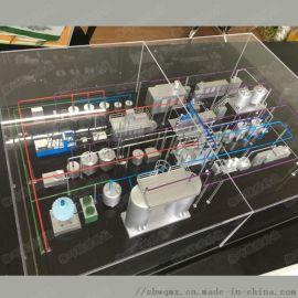 牛奶生产线模型定制仿真食品饮料灌装杀菌生产线模型