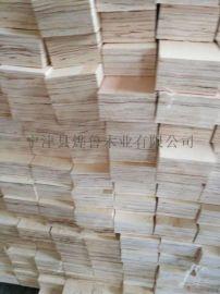 杨木免熏蒸层积材木方工厂加工