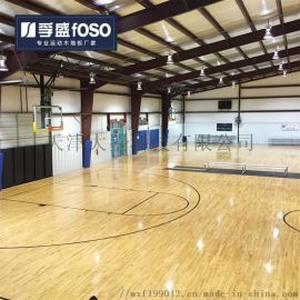 室内篮球场专用实木运动木地板健身房羽毛球馆防滑地板