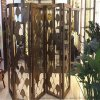 不锈钢酒店屏风厂家加工镜面金属屏风隔断定制