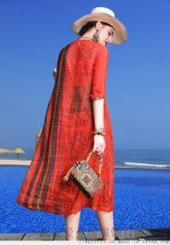 品牌服装一般几折拿货乔品五分袖七分袖连衣裙