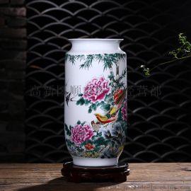 陶瓷现代花瓶/乔迁礼品大花瓶/景德镇家居摆件装饰瓶