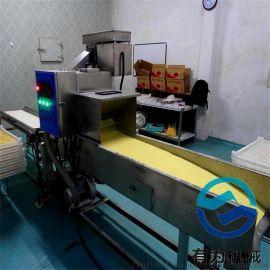 热销无骨鸡柳裹雪花片的机器 埋没式肉块上糠机