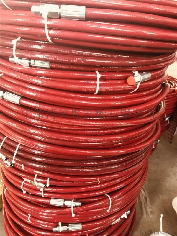 8*10米双层钢丝编织长江气动喷涂机高压管