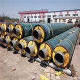 钢套钢保温管 预制直埋保温管 聚氨酯钢套钢保温管