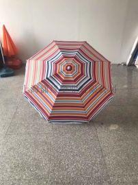 定制户外遮阳条纹沙滩伞、海滩休闲条纹大太阳伞