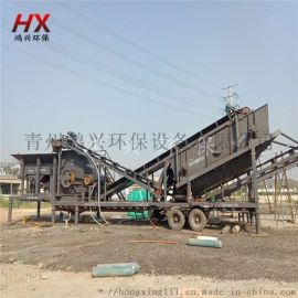 浙江制砂设备 建筑垃圾移动破碎站 锤式制砂机