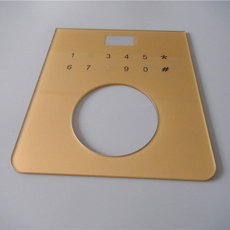 供应 亚克力PC门禁面板加工丝印 安防设备面板定制 亚克力镜片