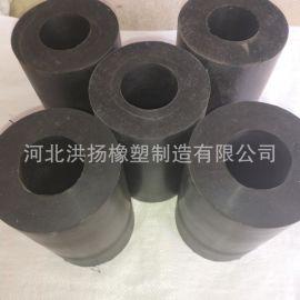 圓形橡膠減震柱 橡膠減震彈簧墩 減震緩衝橡膠柱 圓形防震橡膠塊