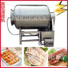 猪肉真空滚揉机 现货销售变频调速呼吸式鱿鱼鲣鱼快速入味腌制机