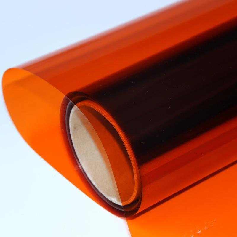 销售玻璃改色膜双面橙色玻璃装饰膜防爆膜