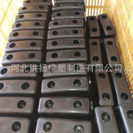 橡胶块 矩形带孔橡胶垫块 工业用耐磨减震橡胶垫块