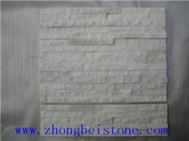 天然石英五条白色文化石