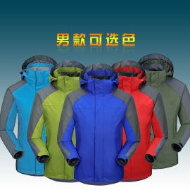 新款定制加工团购两件套防水冲锋衣裤、登山服、工作服