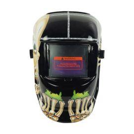 头戴式电焊面罩工厂直供太阳能自动变光焊帽面罩
