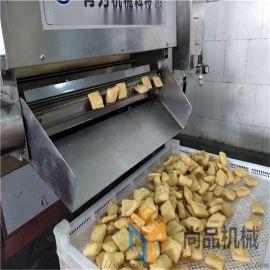 电加热豆腐片油炸机 豆泡油炸机 生产线